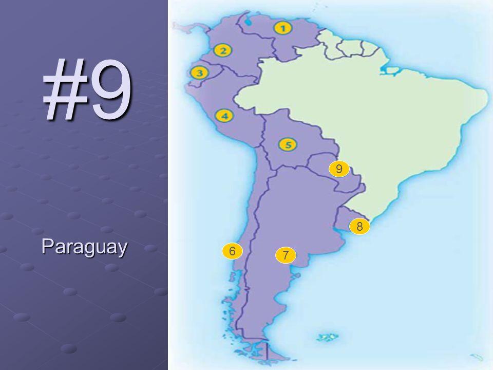 #9 Paraguay 6 7 8 9