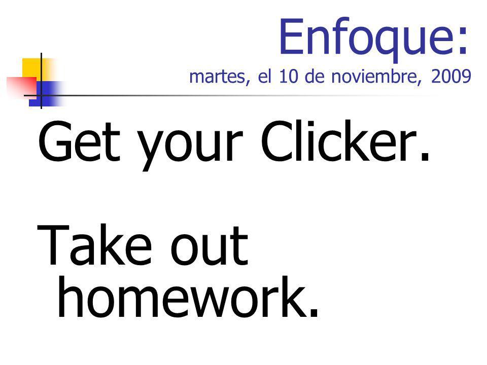 La Agenda The Verb Ser (continued) Homework Check Practice (p.40-41) Easy Teach Game