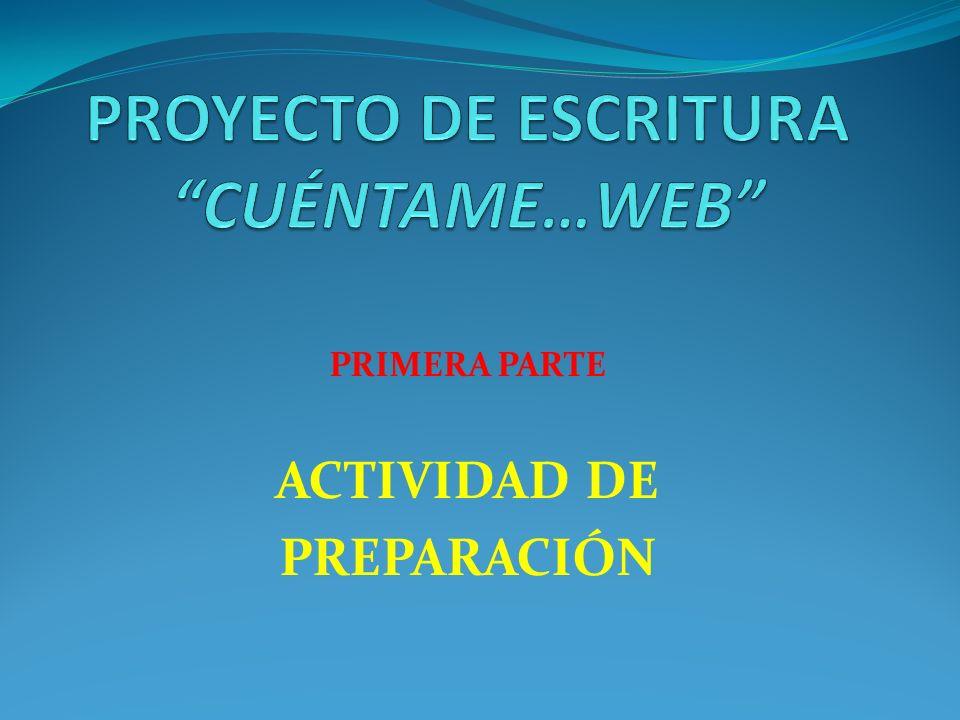 PROYECTO DE ESCRITURA CUÉNTAME…WEB LENGUA CASTELLANA Y COMUNICACIÓN PROFESORA: MARCELA MORALES QUINTANA