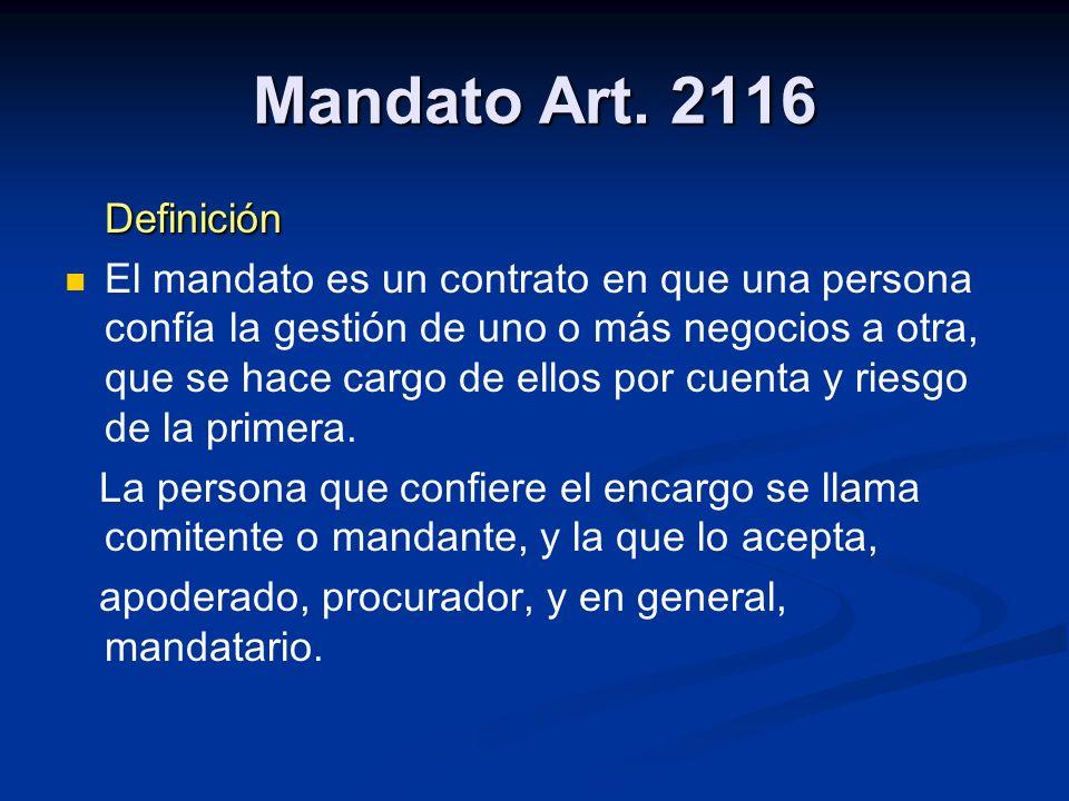 Mandato Art.