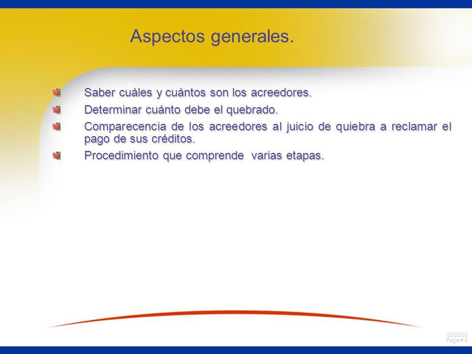03/00/00 Page # 4 a)Verificación de créditos y alegación de preferencias.