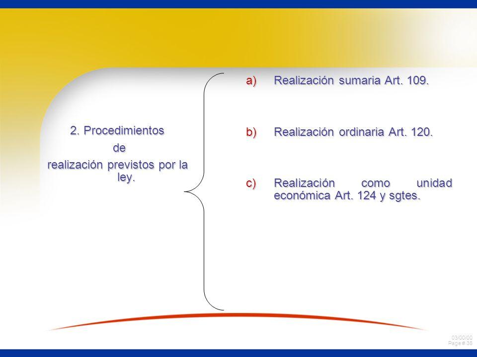 03/00/00 Page # 36 2. Procedimientos de de realización previstos por la ley.