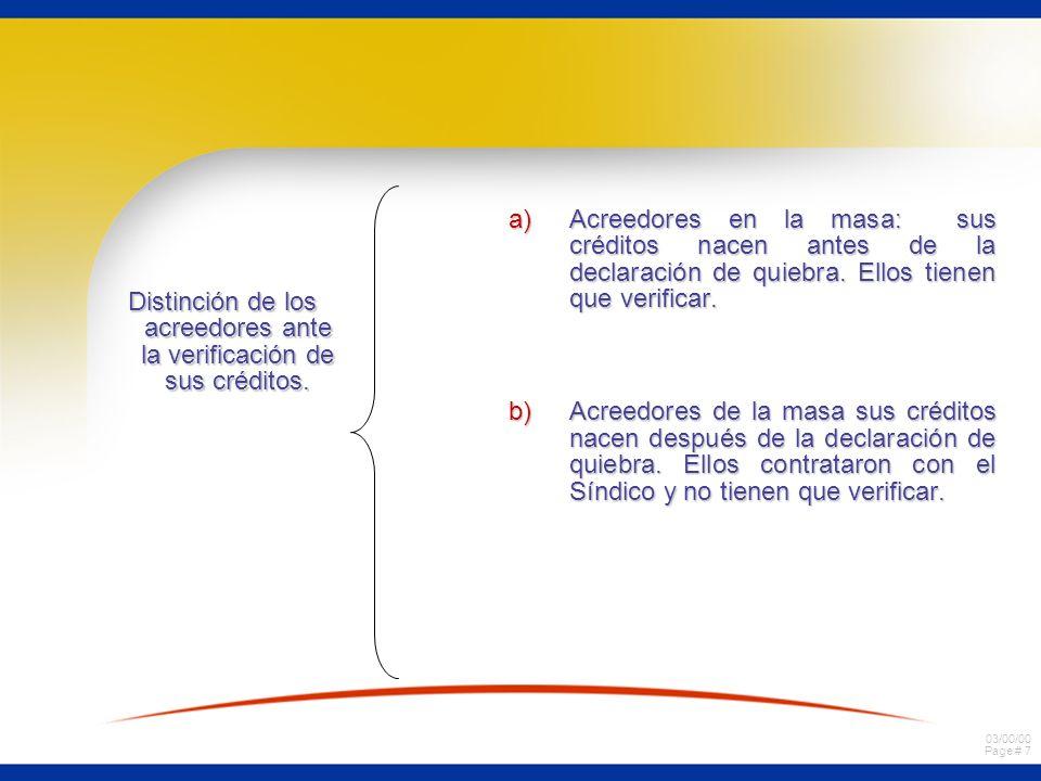 03/00/00 Page # 38 Procedimiento de realización ordinaria.