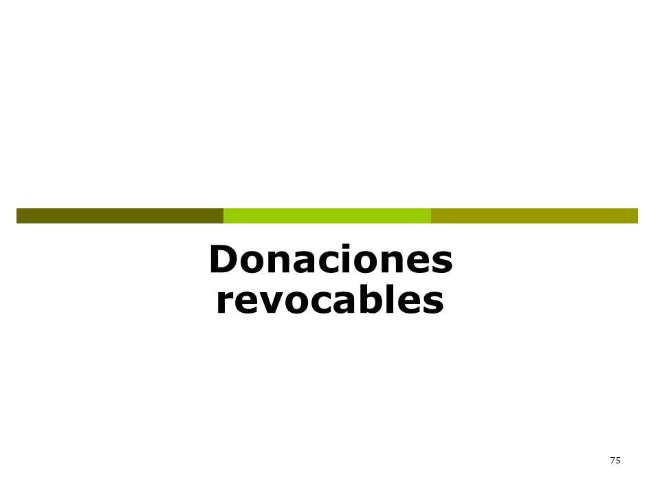 75 Donaciones revocables