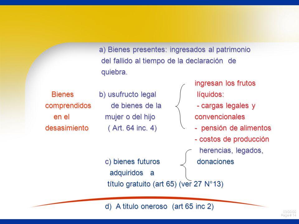 03/00/00 Page # 13 a) actos extrajudiciales: no puede ejecutar a) actos extrajudiciales: no puede ejecutar o celebrar actos y contratos que o celebrar