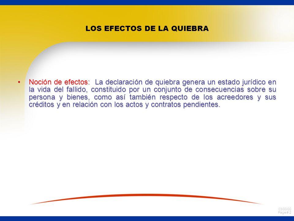 03/00/00 Page # 52 Efectos de la quiebra en los actos y contratos pendientes del fallido.