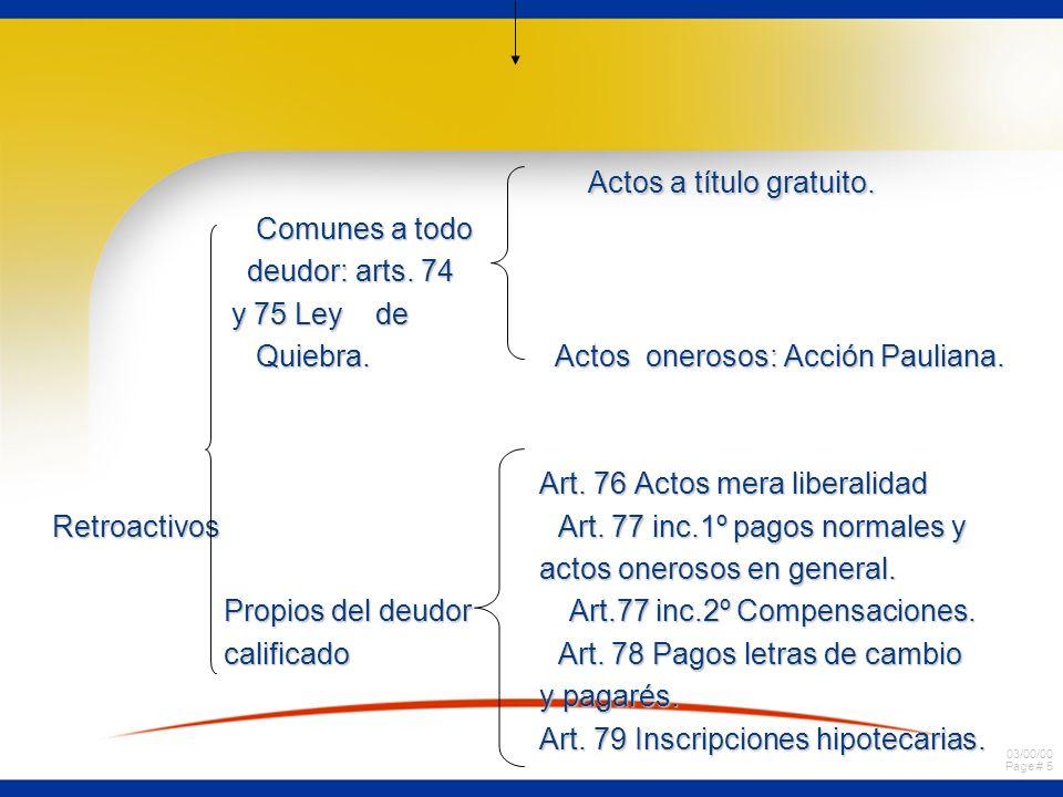 03/00/00 Page # 45 Efectos de la quiebra en los actos y contratos pendientes del fallido.