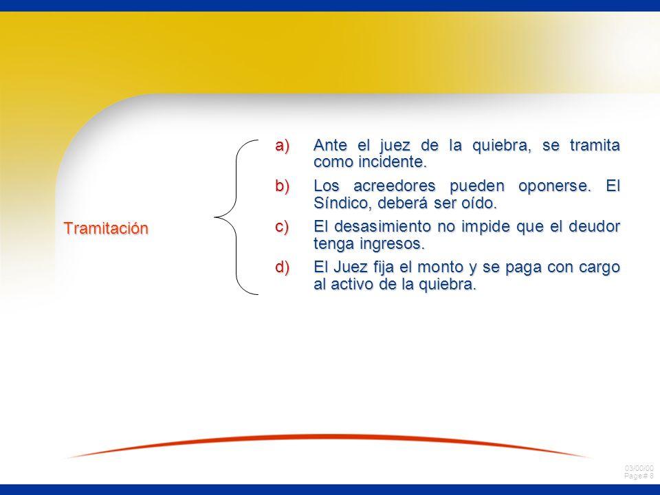 03/00/00 Page # 7 a) deudor Siempre tiene derecho a) deudor Siempre tiene derecho no a pedir alimentos no a pedir alimentos Derecho de calificado Dere