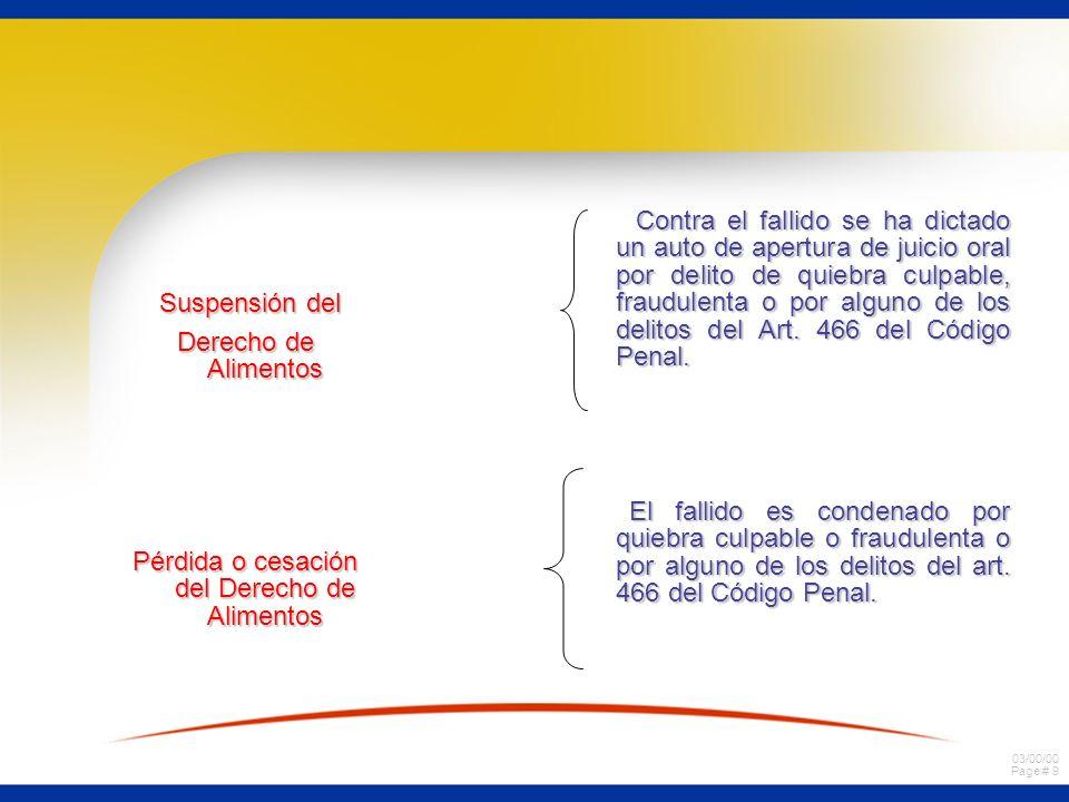 03/00/00 Page # 49 Efectos de la quiebra en los actos y contratos pendientes del fallido.