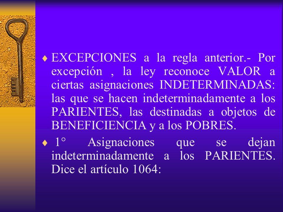 SITUACION DE DIVERSAS CONDICIONES.- Los artículos 1073 a 1077 se ocupan de ciertos hechos que constituyen condiciones especiales: a algunas les reconoce validez, y a otras se las niega.