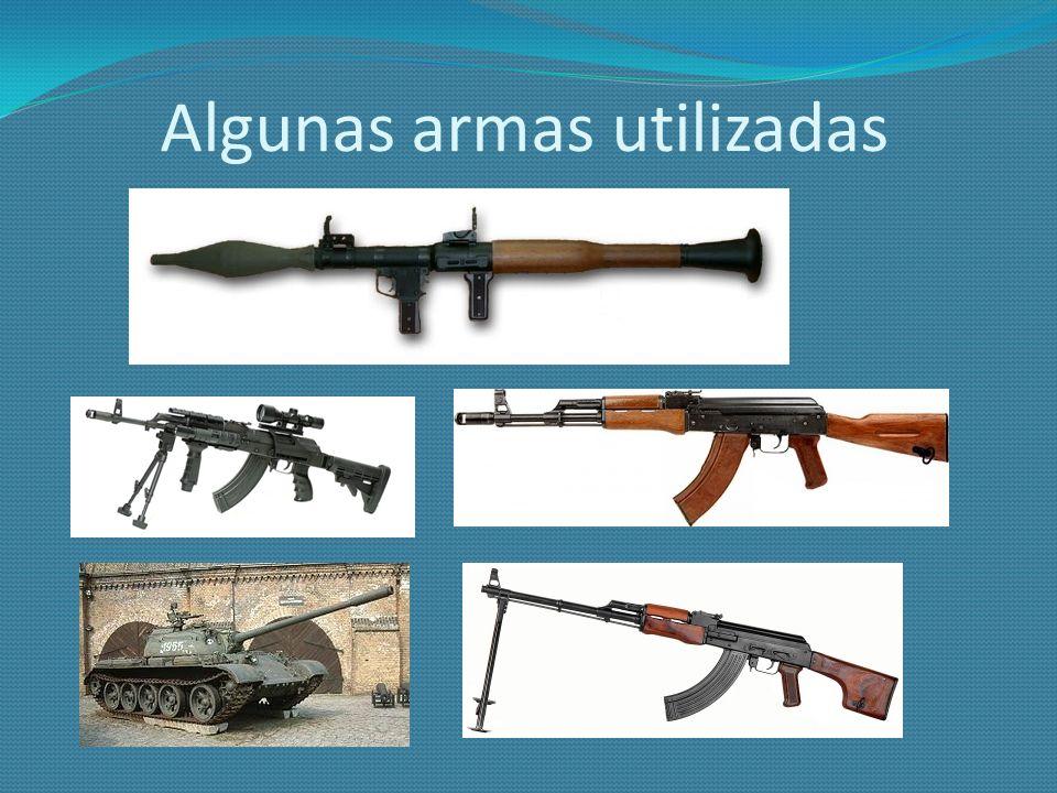 Algunas armas utilizadas