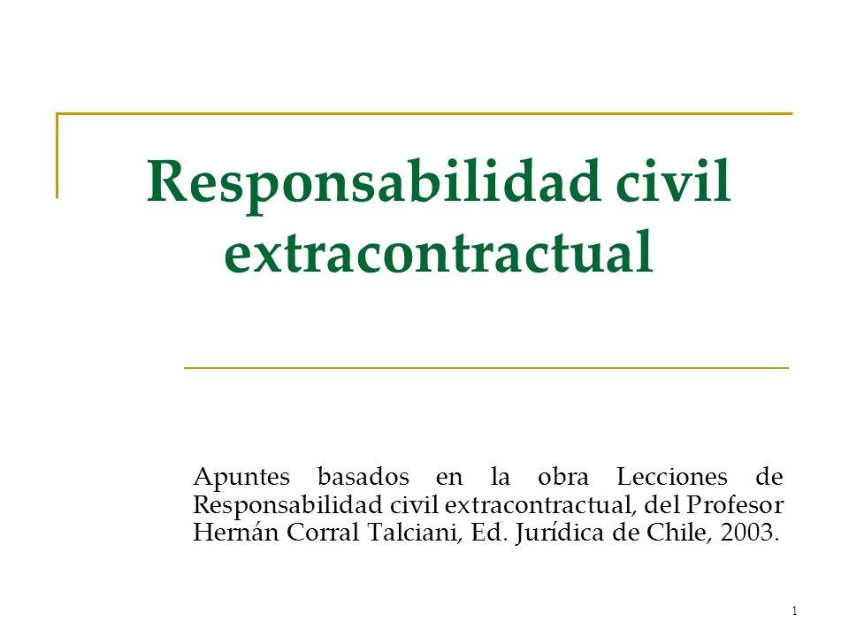 1 Responsabilidad civil extracontractual Apuntes basados en la obra Lecciones de Responsabilidad civil extracontractual, del Profesor Hernán Corral Talciani, Ed.