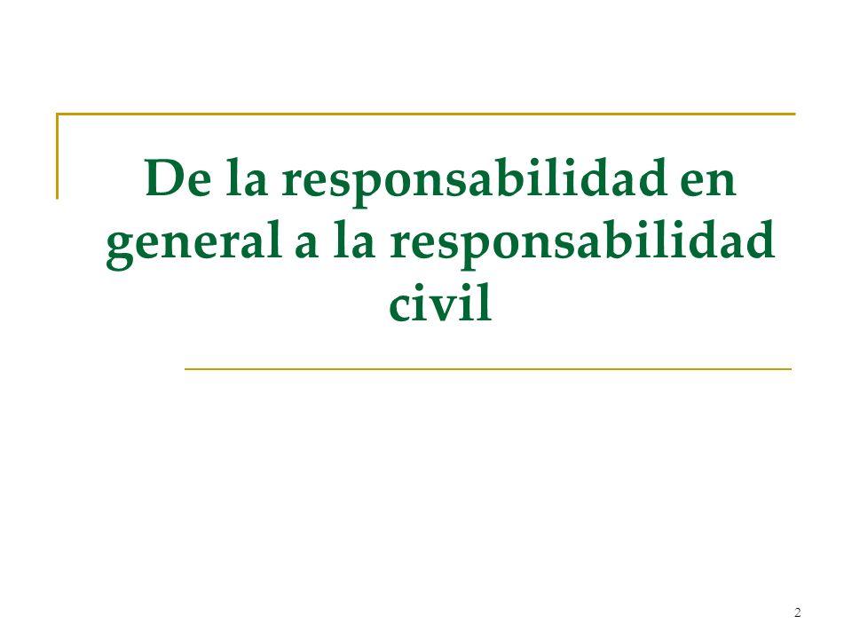 2 De la responsabilidad en general a la responsabilidad civil