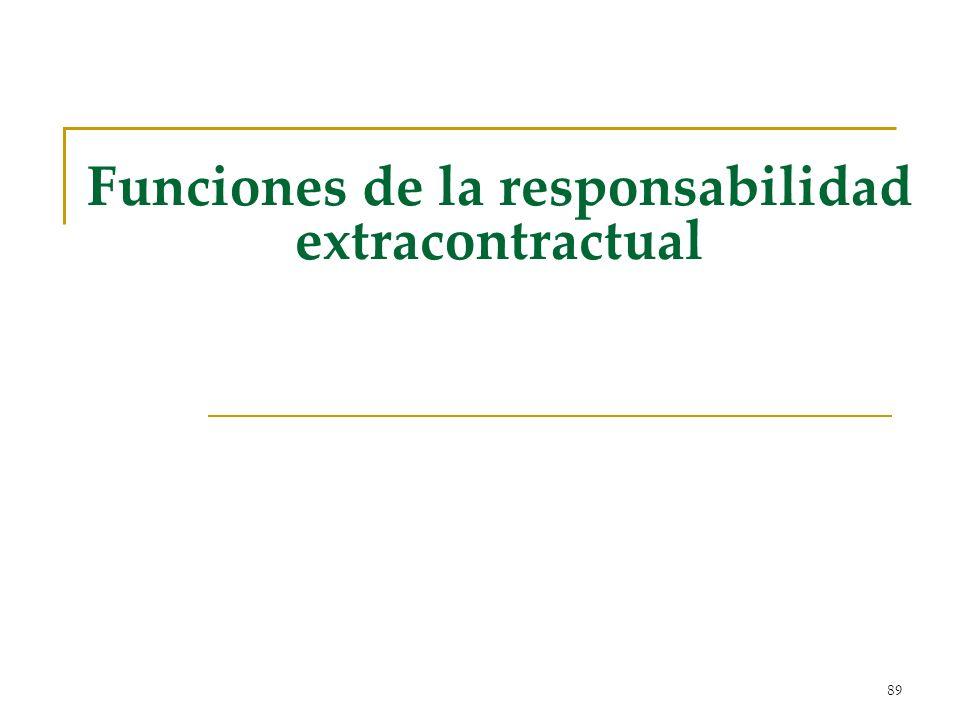 89 Funciones de la responsabilidad extracontractual