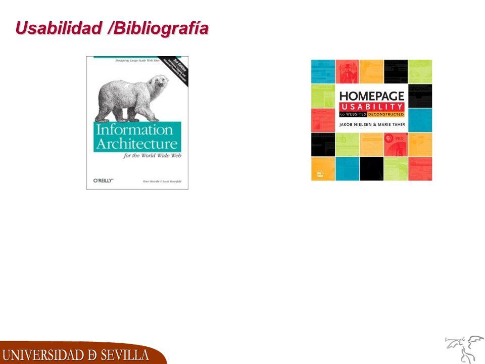 Usabilidad /Bibliografía