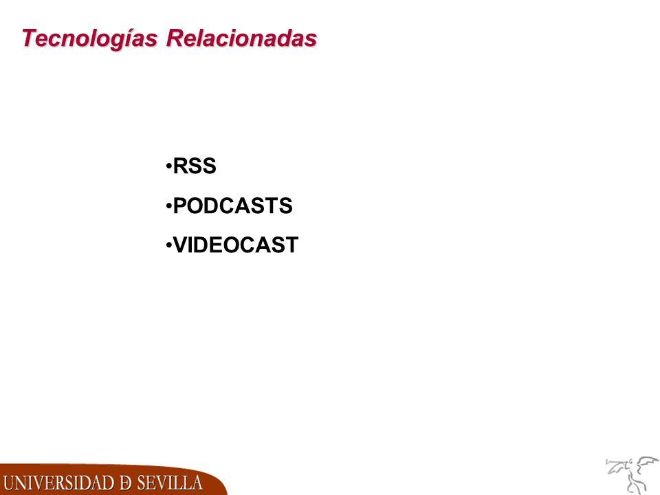 Tecnologías Relacionadas RSS PODCASTS VIDEOCAST