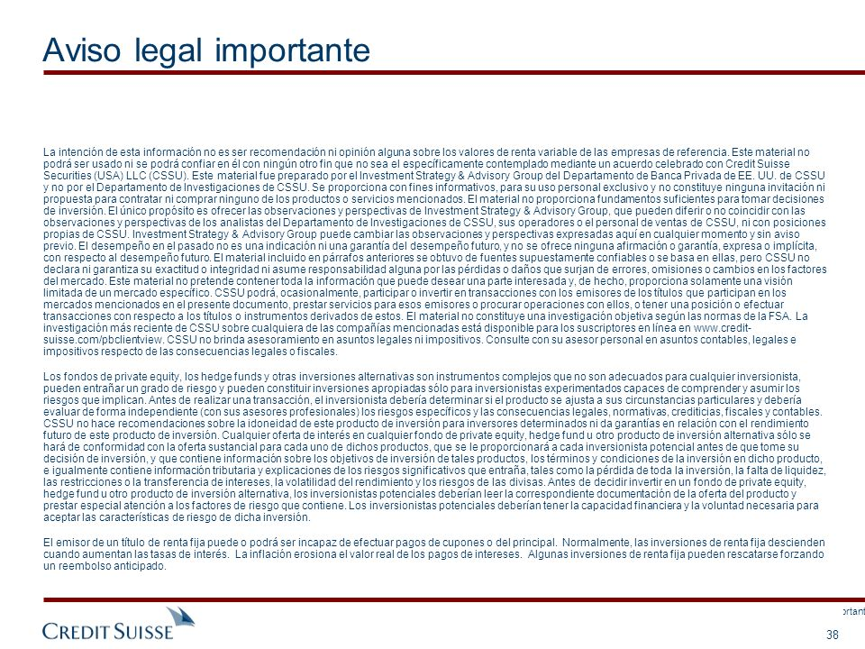 Este documento no está completo sin la sección Información legal importante adjunta.