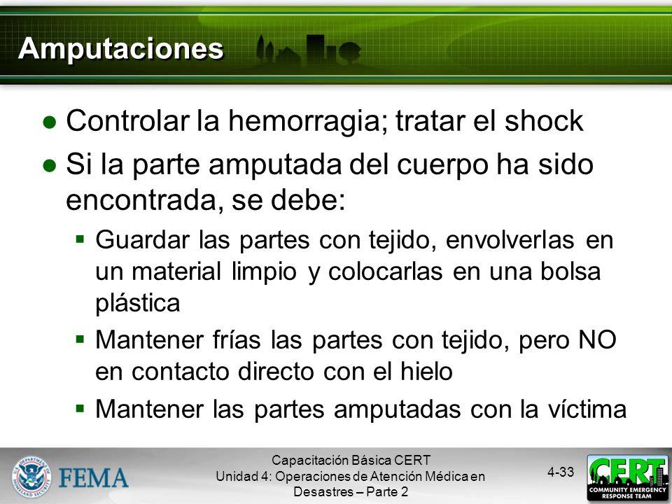4-32 Síntomas de una Infección Síntomas de una posible infección Hinchazón alrededor del sitio de la herida Descoloración Secreciones en la herida Est
