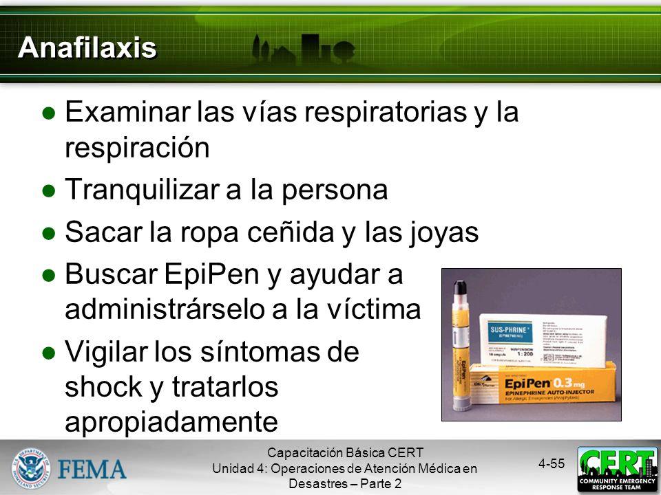 4-54 Tratamiento de Mordeduras/Picaduras Si se sospecha de una mordedura o picadura, y la situación no es de emergencia: Sacar el aguijón, si todavía