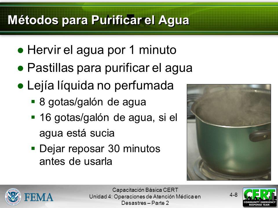 4-7 Mantener la Sanidad Controlar la eliminación de las fuentes bacterianas Colocar los materiales de desecho en bolsas plásticas Atar las bolsas y ma