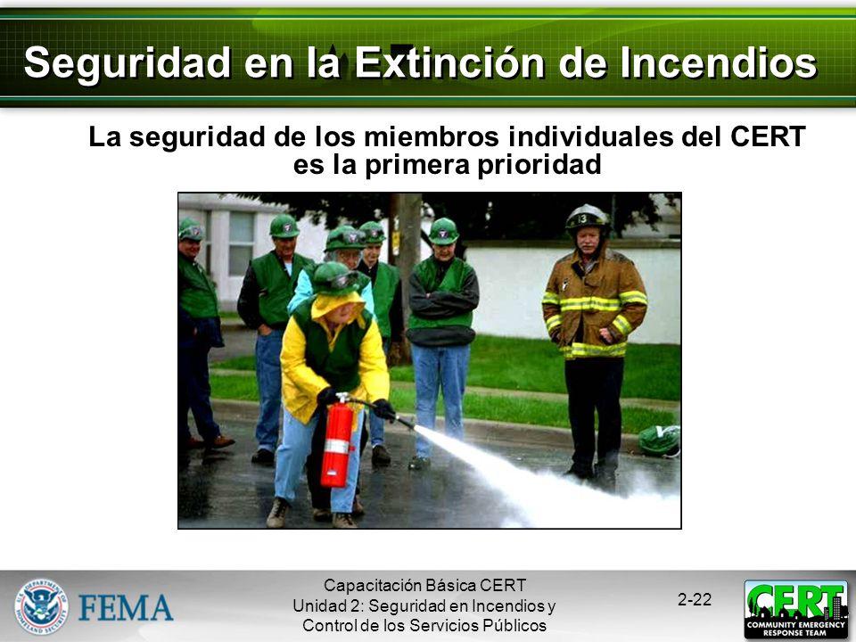 Capacitación Básica CERT Unidad 2: Seguridad en Incendios y Control de los Servicios Públicos 2-21 Tomas de Agua Interiores Se encuentran usualmente e