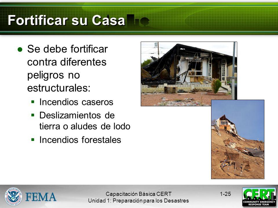 Otras Medidas de Mitigación Atornillar las casas a sus cimientos Instalar entramados o abrazaderas anti- huracanes para reforzar al techo Atar los tan