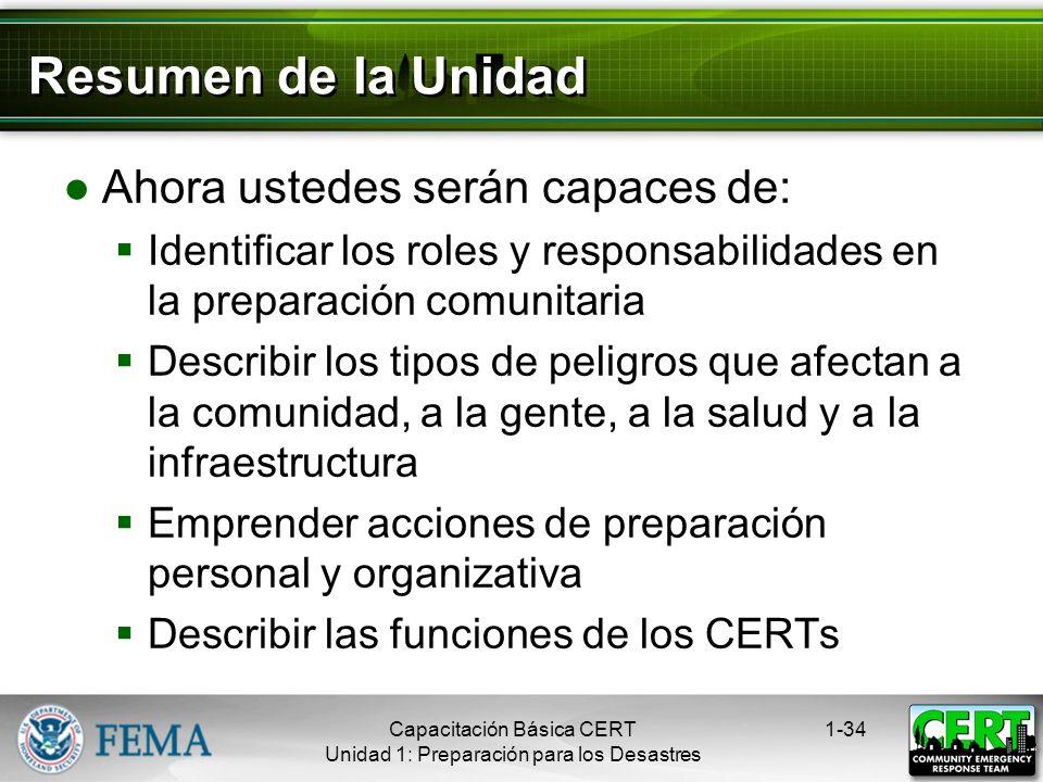 Capacitación Adicional para los CERTs Primeros auxilios avanzados Problemas de los animales en los desastres Uso del Desfibrilador Automático Externo