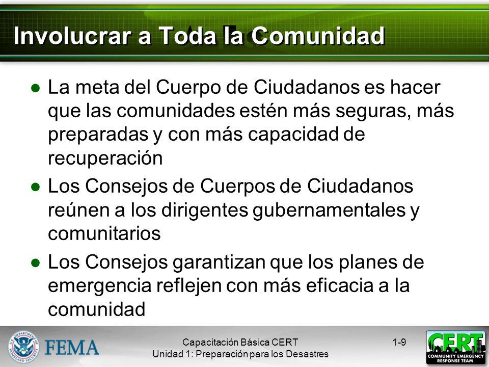 El Público Aprende sobre las alertas y advertencias comunitarias y las rutas de evacuación Se capacita Practica las habilidades y los planes personale