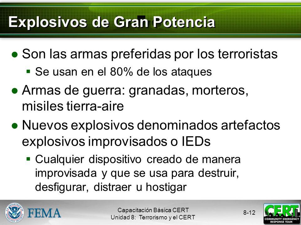 8-11 Armas Nucleares Obtienen su fuerza destructiva de la reacción nuclear El área contaminada es más grande, pues los objetos contaminados se disemin