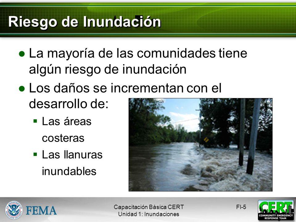 Peligros de las Inundaciones Las lluvias fuertes pueden exacerbar los problemas de: Escorrentía Absorción Las medidas para controlar las inundaciones