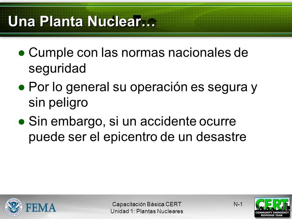 Emergencias en las Plantas Nucleares Capacitación Básica CERT Peligros