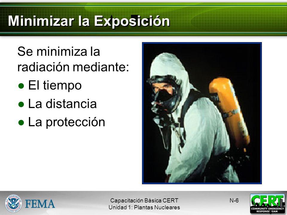 Zonas de Planificación de Emergencia EPZ dentro de un radio de 10 millas alrededor de la planta Es posible que la gente sufra daños por la exposición