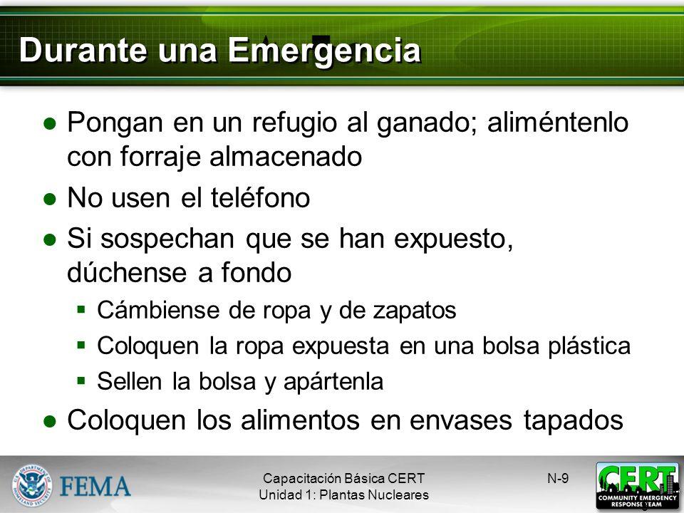 Durante una Emergencia Escuchen la alerta Manténganse sintonizados a la radio o televisión local Evacúen, si les aconsejan hacerlo Si no les aconsejar