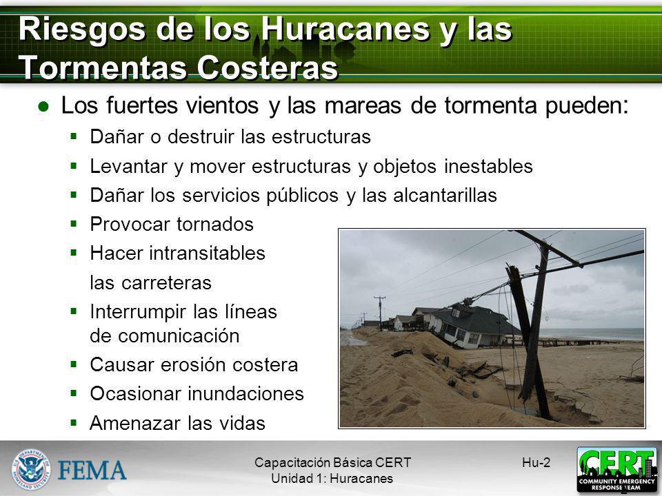 Huracanes y Tormentas Costeras Huracanes: Áreas violentas de baja presión que se forman en los trópicos Tienen vientos de 75 mph o más Están acompañad
