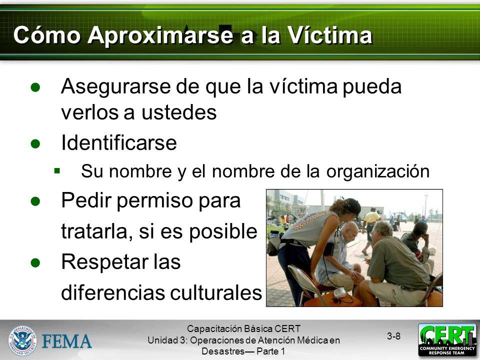 Capacitación Básica CERT Unidad 3: Operaciones de Atención Médica en Desastres Parte 1 3-7 Los Tres Asesinos Asesinos en medicina de emergencia Obstru