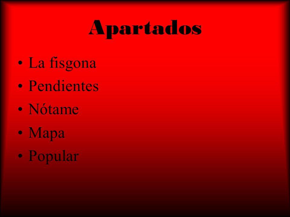 Apartados La fisgona Pendientes Nótame Mapa Popular