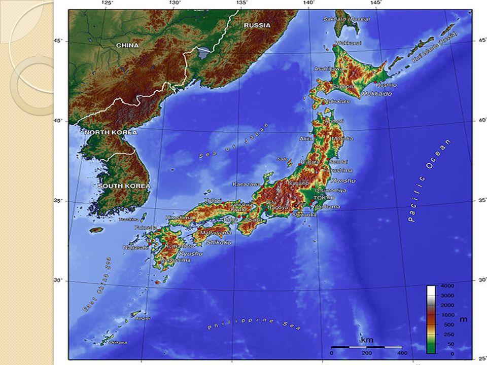 Hidrografía: Los ríos de Japón suelen ser rápidos, abruptos y rectilíneos.