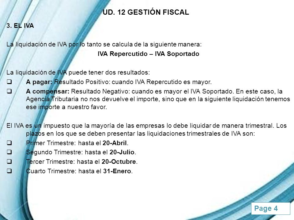Powerpoint Templates Page 5 UD.12 GESTIÓN FISCAL 3.