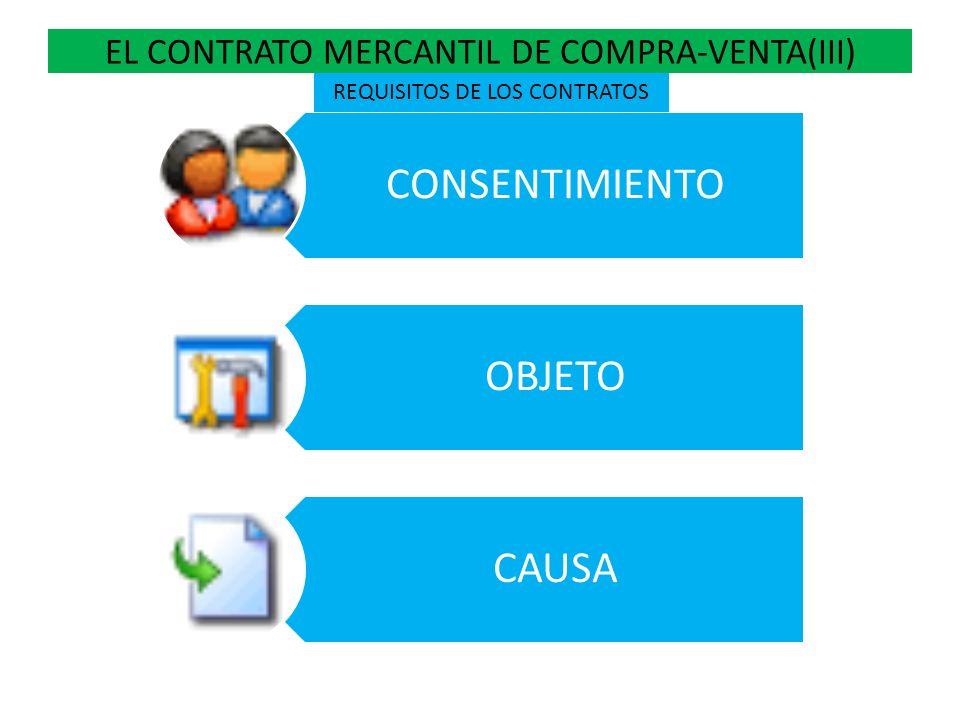 EL CONTRATO MERCANTIL DE COMPRA-VENTA(IV) EN LA COMPRA-VENTA CIVIL EL COMPRADOR ES EL USUARIO.