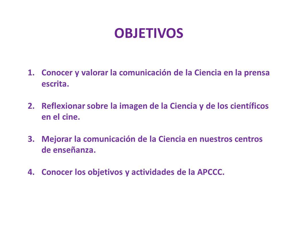 ESTRUCTURA Y CONTENIDOS 1.La comunicación científica en la prensa: Análisis de un diario.
