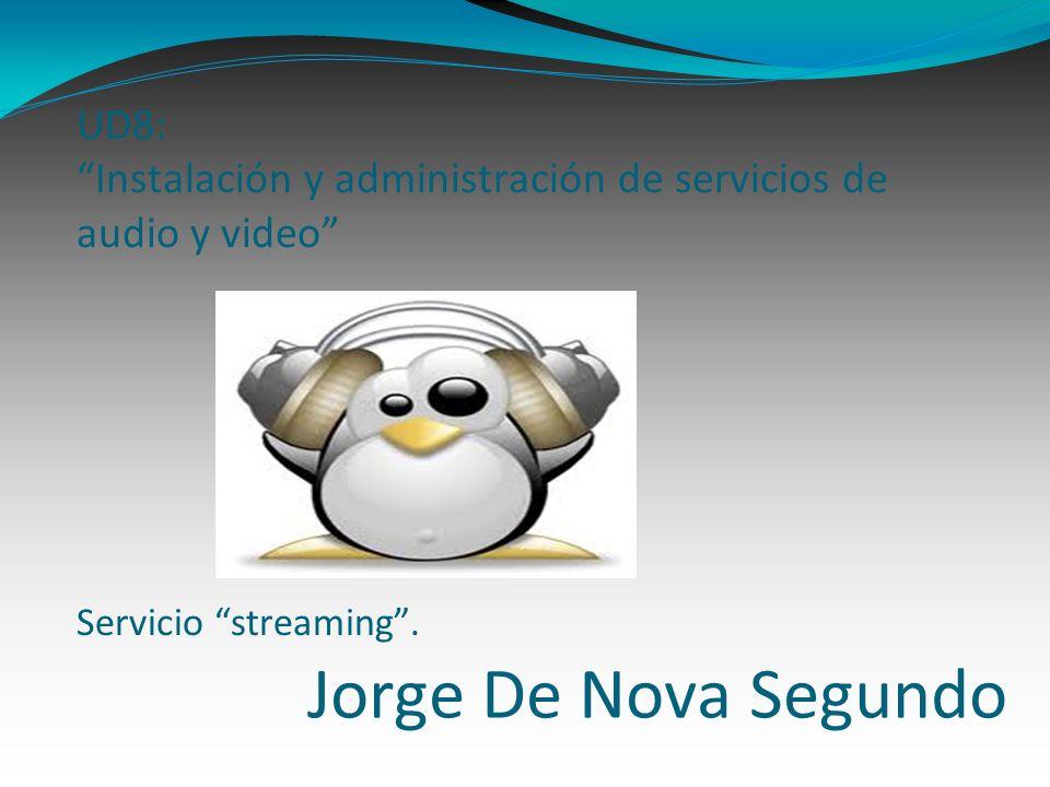 Jorge De Nova Segundo UD8: Instalación y administración de servicios de audio y video Servicio streaming.