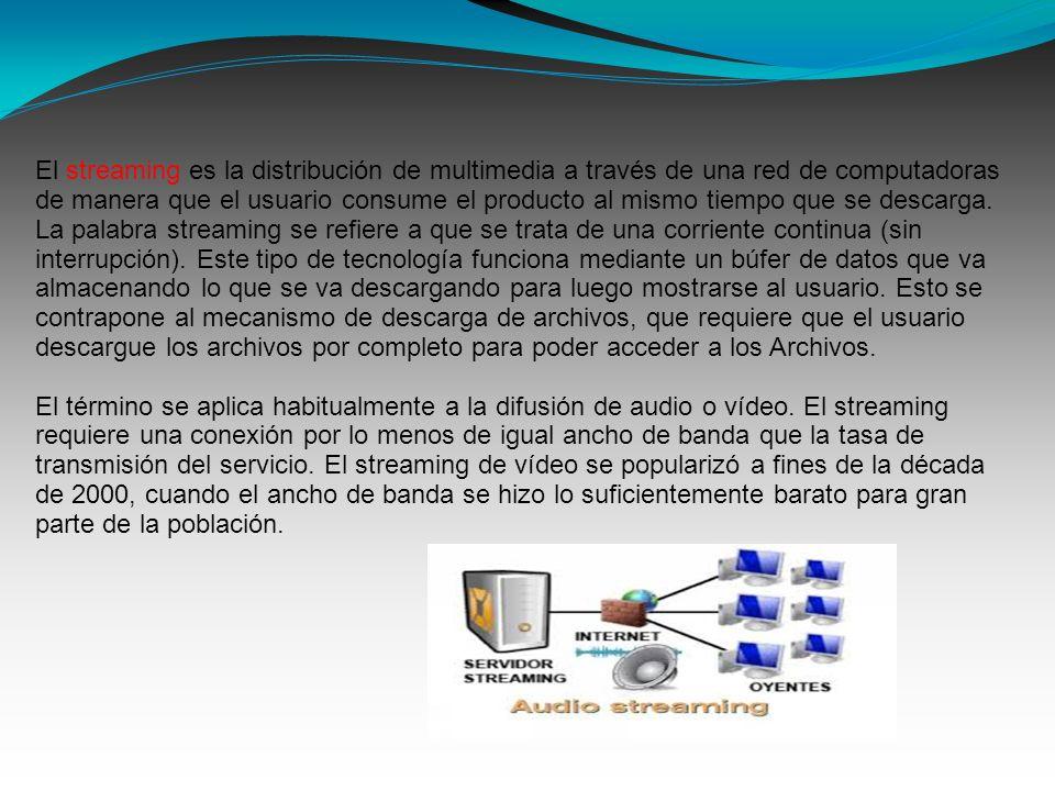 Funcionalidad del servicio de streaming.