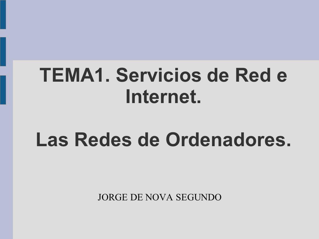 TEMA1. Servicios de Red e Internet. Las Redes de Ordenadores. JORGE DE NOVA SEGUNDO