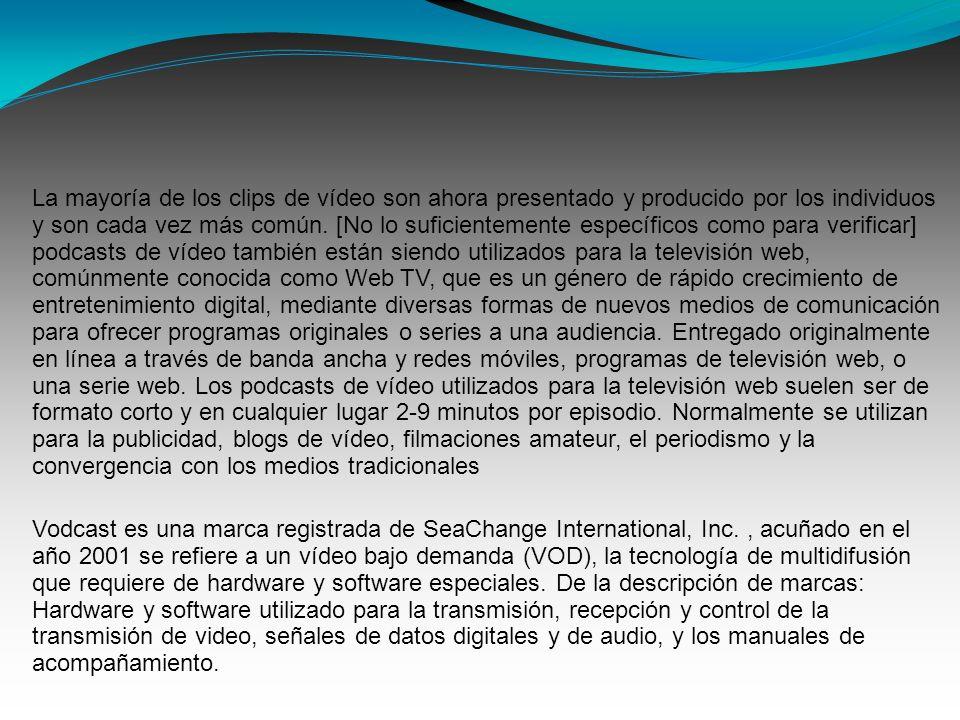 La mayoría de los clips de vídeo son ahora presentado y producido por los individuos y son cada vez más común. [No lo suficientemente específicos como