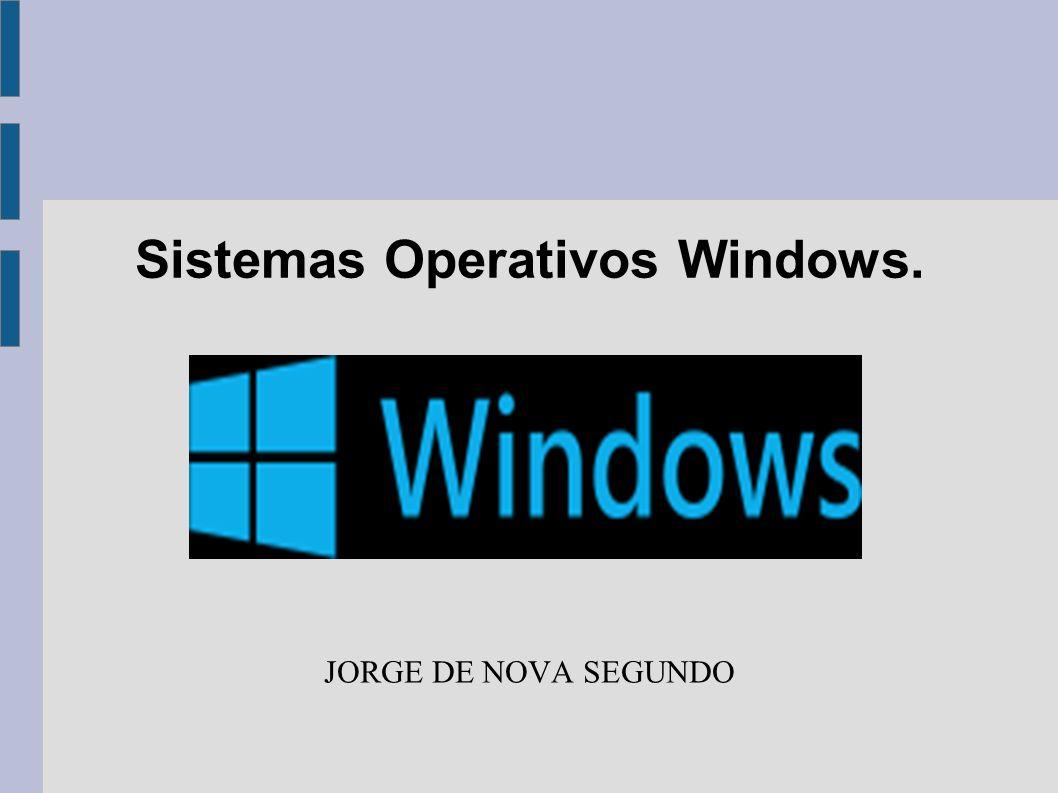 Sistemas Operativos Windows. JORGE DE NOVA SEGUNDO
