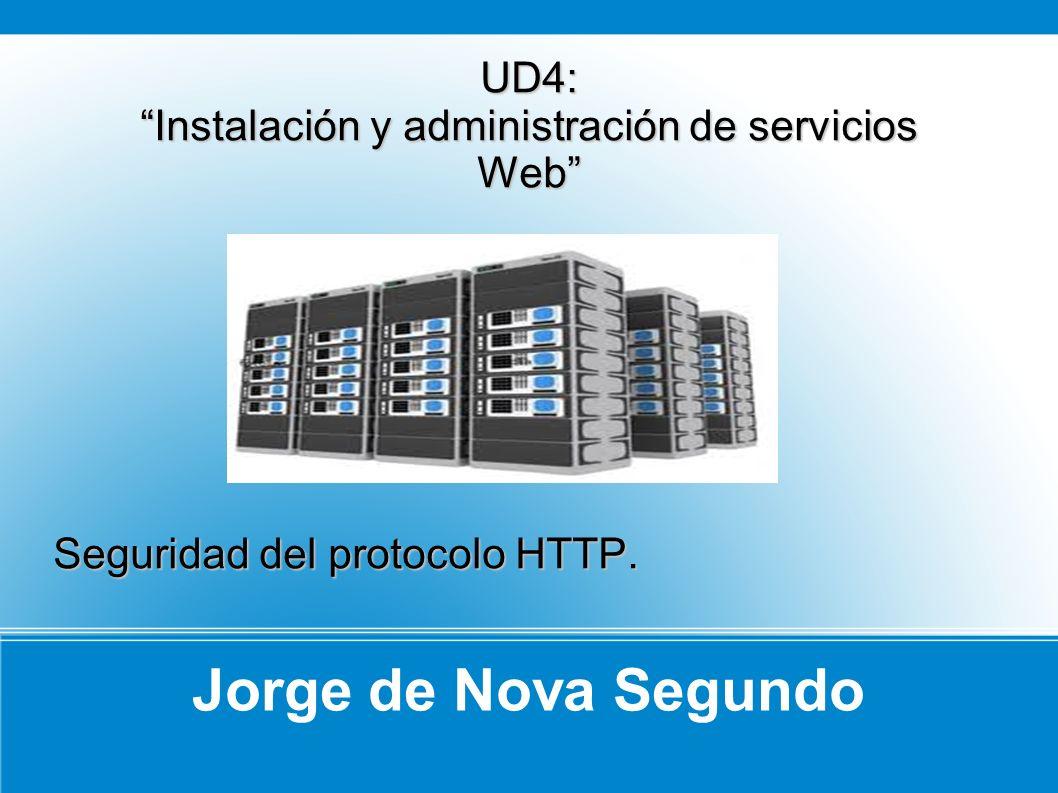 Jorge de Nova Segundo UD4: Instalación y administración de servicios Web Seguridad del protocolo HTTP.