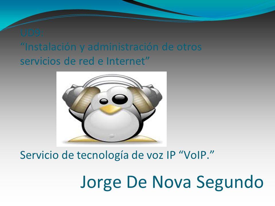 Jorge De Nova Segundo UD9: Instalación y administración de otros servicios de red e Internet Servicio de tecnología de voz IP VoIP.