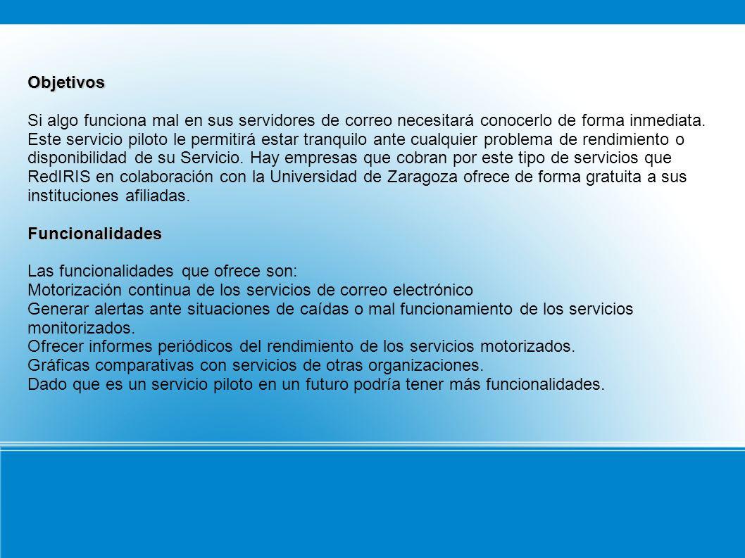 Requisitos de Uso El servicio se ofrece bajo demanda y debe ser solicitado a RedIRIS por el PER (Persona de Enlace con RedIRIS) de la institución a través del formulario de solicitud.