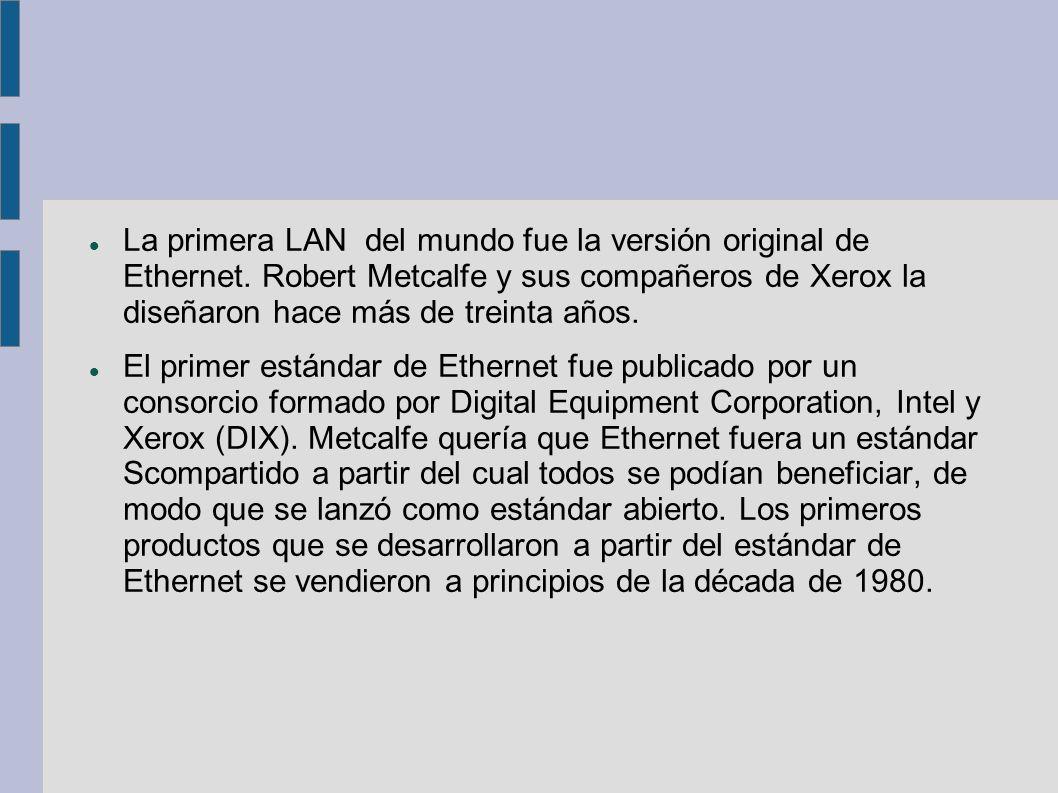 Ethernet opera a través de dos capas del modelo OSI.