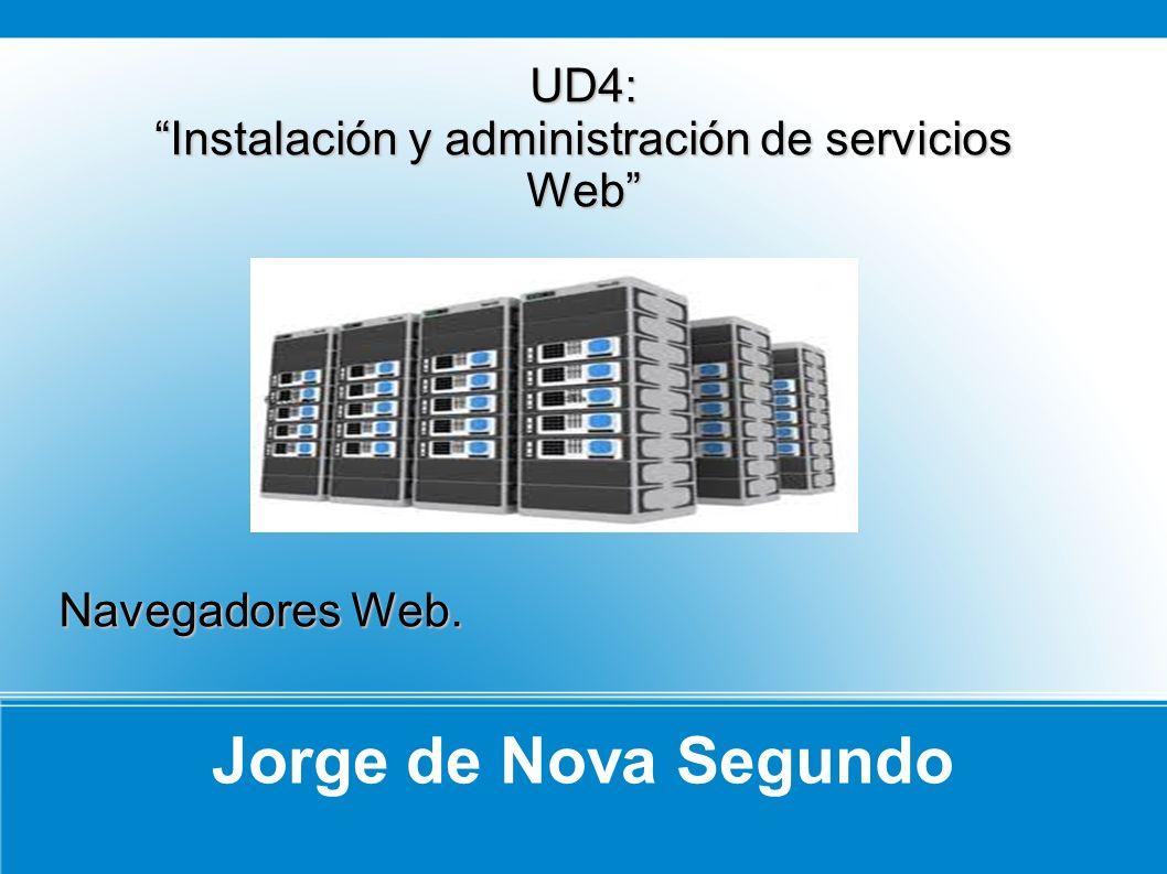 Jorge de Nova Segundo UD4: Instalación y administración de servicios Web Navegadores Web.